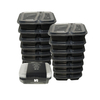 Wholesale Lunch Box Containers Disposable Plastic 2 Compartment Bento Lunchbox