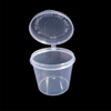 1oz Plastic Sauce Cup Round Wholesale Disposable Incense Innovative Food Container with Hinged